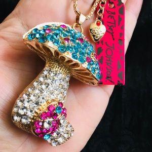 BETSEY JOHNSON~ Mushroom Necklace
